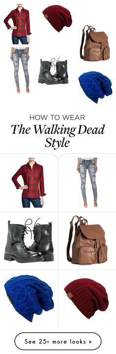 """""""Walking Dead Story"""" by imoneneo on Polyvore featuring AG Adriano Goldschmied, Dollhouse, H&M and Spacecraft"""