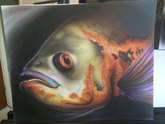 "14""x17"" Airbrushed Fish"