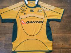 2007 2009 Australia Rugby Union Shirt Adults Small Wallabies