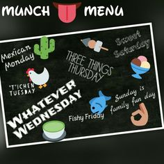 Menu for the week... #food