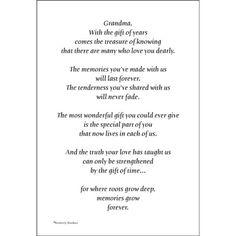 Grandmother Death Poems From Grandchildren 5