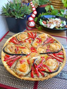 Eggplant and goat pepper tart: the easy recipe faciles gourmet de cocina de postres faciles pasta saludables vegetarianas Quiches, Veggie Recipes, Vegetarian Recipes, Pizza Recipes, Healthy Cooking, Cooking Recipes, Tarte Fine, Salty Foods, Stuffed Sweet Peppers