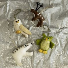 Felted animals! I'm sending these to my mom, she can make things like this :D