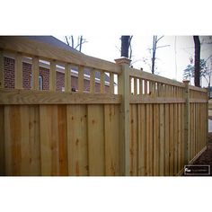 Love this fence look Vinyl Privacy Fence, Diy Fence, Backyard Fences, Fence Panels, Backyard Ideas, Privacy Screens, Landscaping Ideas, Outdoor Living, Outdoor Decor