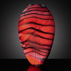 Steven  Main -Kimono Series Oval Vase Large