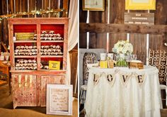 vintage red hutch for jams at Embellish Vintage Rentals Wedding Favour Displays, Jam Wedding Favors, Jam Favors, Country Wedding Favors, Diy Wedding, Wedding Ideas, Red Hutch, Ladder Display, For Elise