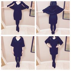 Hp 11/6 Black Mini Capelet Dress