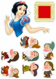 Disney Princess Cupcakes, Disney Princess Snow White, Disney Princess Birthday, Princess Party, Superman Birthday Party, 1st Birthday Girls, Snow White Characters, Disney Paper Dolls, Disney Frames