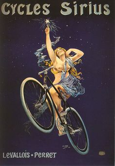 Cycles Sirius Advert    how does one ride a bicycle sidesaddle?  forget about outer space.. lol