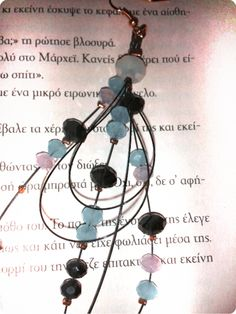 Heartmade crystal earrings.Reading is inspiration...