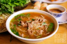 Vietnamese Beef Soup (Pho) - Recipes for Healthy Living by the American Diabetes Association® Vietnamese Pho, Vietnamese Cuisine, Vietnamese Restaurant, Vietnamese Recipes, Good Food Channel, Asian Recipes, Ethnic Recipes, Asian Foods, Favourite Pizza