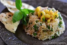 Feeling adventurous? Try this Berbere flavored Peas Pulao with Pineapple from @Panfusine!