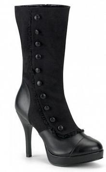 Black Victorian inspired Boots Sem esse saltão eu usaria.