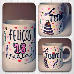 Taza ideal para regalar a un/a amigo/a en su cumpleaños. SHOP ONLINE: WWW.MOS-TAZA.COM