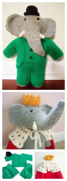 Knitting Elephant Toy Free Patterns
