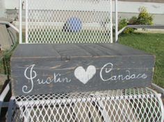"""12"""" x 12"""" Rustic Wedding Cake Stand, Personalized, Shabby Chic Wedding, Barn Wedding, Outdoor Wedding on Etsy, $36.99"""
