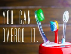 Brushing too vigorously can actually damage tooth enamel, which leads to tooth decay. #brushing #dontoverdoit