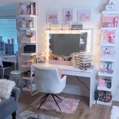 Bedroom Decor For Teen Girls, Room Ideas Bedroom, Diy Bedroom Decor, Ikea Room Ideas, Small Bedrooms, Diy Beauty Room, Kids Room Organization, Makeup Organization, Vanity Decor