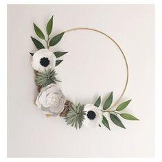 Wreath Felt Wreath Wreaths Flower Wreath by alisonmichel