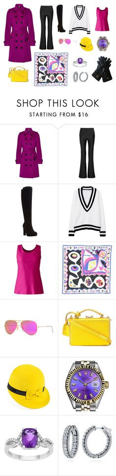 """""""Chicago winter work day"""" by edith-a-giles ❤ liked on Polyvore featuring Burberry, Johanna Ortiz, Dune, MANGO, Lands' End, Emilio Pucci, Ray-Ban, Mark Cross, Mademoiselle Slassi and Rolex"""