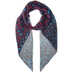 mytheresa.com - Printed silk crepe scarf - Scarves - Accessories - McQ Alexander McQueen - Luxury Fashion for Women / Designer clothing, shoes, bags