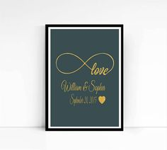 Infinity Love Personalized Name and Date Hand by mixarthouse