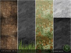Grunge Walls by Cross Architecture for The Sims 4
