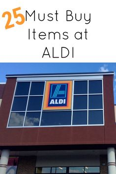 "25 Must Buy Items at ALDI, I just discovered ALDI and this site has a good list. Didn't know they had a ""sale"" bin!"