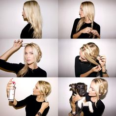 Braided Crown Tutorial.. forget the braid. I love the dog she is holding
