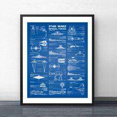 """Star Wars Print Blueprint Vintage Poster Canvas Painting Star Wars Empire Darth Vader Home Wall Art Decor"" Vintage Wall Art, Vintage Posters, Home Wall Art, Wall Art Decor, Tableau Star Wars, Star Wars Bedroom, Star Wars Prints, Fine Art Prints, Stars"