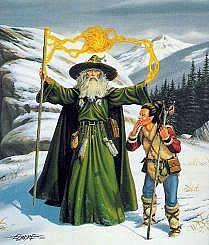 Fizban, o mago e Deus Paladine.