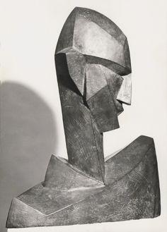 """""""Bildnisbüste Rudolf Wacker"""" by Albert Bechtold Plaster Sculpture, Sculpture Head, Abstract Sculpture, Portrait Art, Art World, Figurative Art, Photo Art, Sculpting, Illustration Art"""