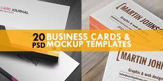 free-business-card-mockup-templates