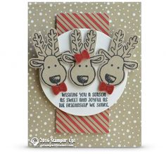 CARD: Reindeer Friends from Cookie Cutter Christmas | Stampin Up Demonstrator - Tami White - Stamp With Tami Crafting and Card-Making Stampin Up blog