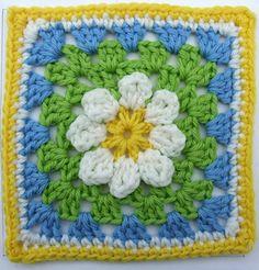 Daisy pattern, pg 36:  100 Afghan blocks