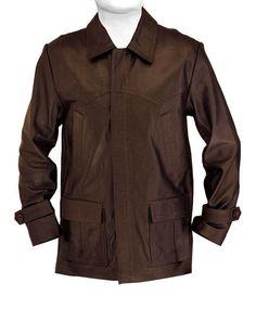Tavie Mens Leather Coat