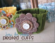 easy pleated cuffs tutorial