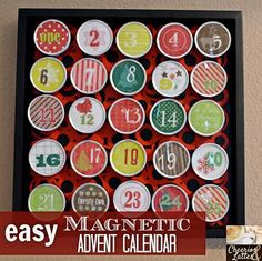Magnetic Advent Calendar use these boxes for my wedding favors wish I had some left over!