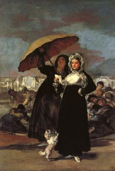Young Woman with a Letter (1814-1819). Francisco de Goya y Lucientes (Spanish, 1746-1828). Oil on canvas. Palais des Beaux Arts de Lille. The painting exemplifies the dark tonalities and fluid brushstrokes representative of Goya's later period, as well as the stylistic influences of Velázquez and Rembrandt.