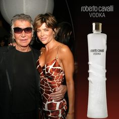 Roberto Cavalli with Lisa Rinna at the Cavalli Vodka Launch Party in Los Angeles…
