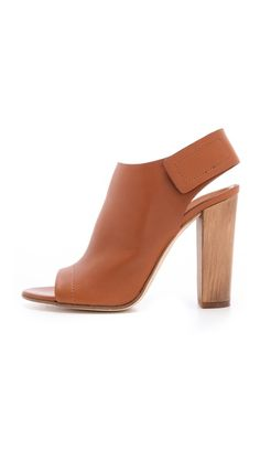 Vince Astrid Open Toe Booties .. love them so comfy
