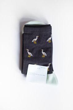 Hansel From Basel Stork Crew Socks