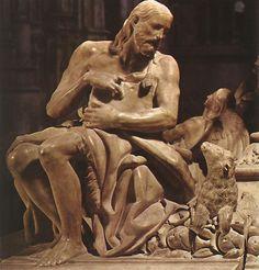 Bartolmé Ordoñez.  Detalle de Escultura de San Juan Bautista en el sepulcro de Doña Juana. Capilla Real de Granada, h. 1519.
