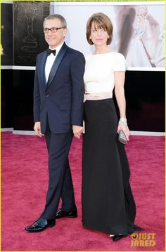 Christoph Waltz was the best dressed guy at the Oscars this year. A midnight blue shawl collar (in a proper midnight blue - it's a shade or two darker than what Daniel Day-Lewis wore). Minor nits - I'd have gone with onyx studs instead of white, tucked in the pocket flaps. Of course a white pocket square, and the sleeves should be shortened a touch. But this illustrates that these are minor details when the fit is fundamentally correct. Bonus points for a real bow tie.