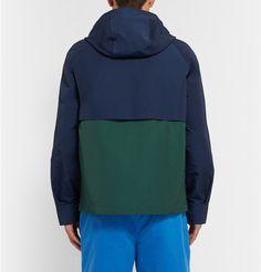 Hentsch ManTwo-Tone Cotton-Blend Windbreaker Jacket