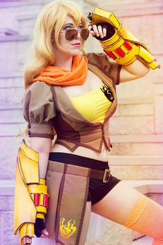 [self] Yang Xiao Long from RWBY cosplay Rwby Cosplay, Cosplay Outfits, Cosplay Girls, Cosplay Ideas, Anime Cosplay, Amazing Cosplay, Best Cosplay, Anime Costumes, Cosplay Costumes