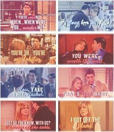 Ross and Rachel Friends love quotes. See? He's her lobster! Serie Friends, Friends Moments, Friends Tv Show, Friends Forever, Friends Episodes, Best Tv Shows, Best Shows Ever, Favorite Tv Shows, Favorite Things