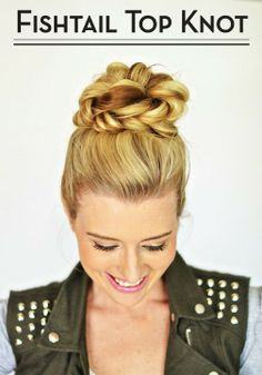 Fishtail top knot #hairstyle