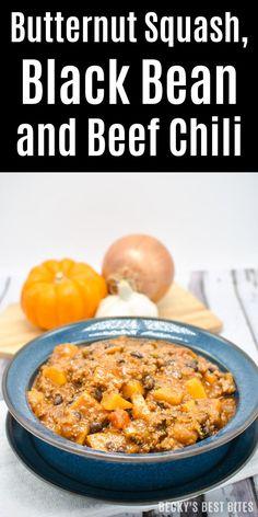 Squash, Black Bean and Beef Chili Hub's Butternut Squash, Black Bean ...