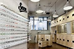 Seen Opticians, Manchester Interior Design and photography by 93ft